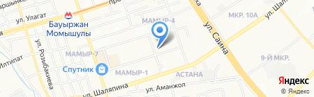 Салон-ателье по подгонке одежды на ул. Мамыр 4-й микрорайон на карте Алматы