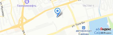 Бар Лига на карте Алматы