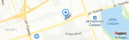 Автостоянка №26 на карте Алматы