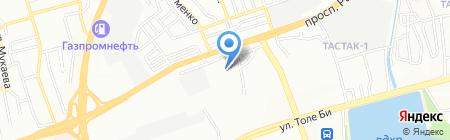 Алматынан ТОО на карте Алматы