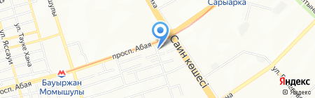 Уштал на карте Алматы
