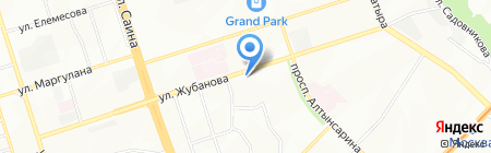 Ветеринарная клиника на карте Алматы