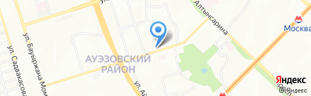 Нотариус Несипбаева А.М. на карте Алматы