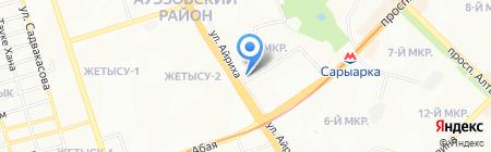 Подсолнух на карте Алматы