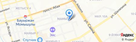 Нур продовольственный магазин на карте Алматы