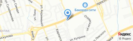 Шиномонтажная мастерская на проспекте Рыскулова на карте Алматы