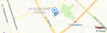 Нурдос продовольственный магазин на карте Алматы