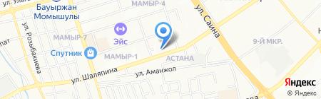 Узбечка на карте Алматы
