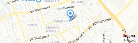 Алтын Алма на карте Алматы