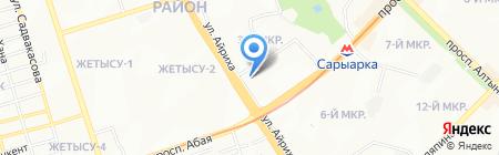 Судьба на карте Алматы