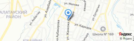 Шанырак на карте Алматы