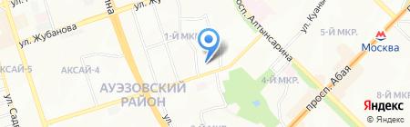 Гимназия №111 на карте Алматы