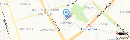 Управление по делам обороны Ауэзовского района на карте Алматы