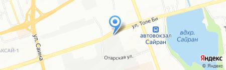 СТО на ул. Толе би на карте Алматы