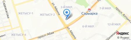 Нотариус Тохтаров М.Н на карте Алматы