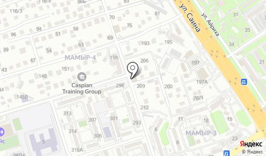 Продовольственный магазин на ул. Мамыр 4-й микрорайон. Схема проезда в Алматы