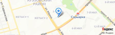 Фламинго-9 на карте Алматы