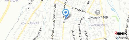 Каркара на карте Алматы