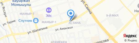 Дамин на карте Алматы