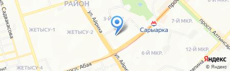 АТЛАС жилой комплекс на карте Алматы