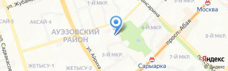 Общеобразовательная школа №122 на карте Алматы