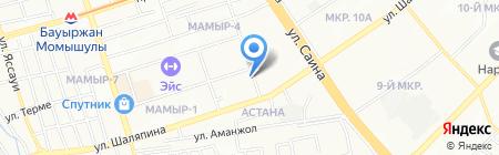 Тамина на карте Алматы