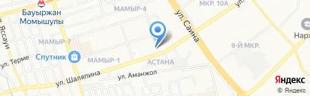 Радуга магазин игрушек и канцелярских товаров на карте Алматы