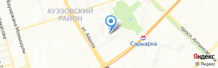Спутник на карте Алматы