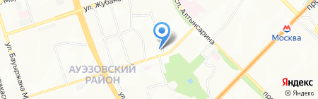 Мастерская по ремонту обуви на ул. 1-й микрорайон на карте Алматы