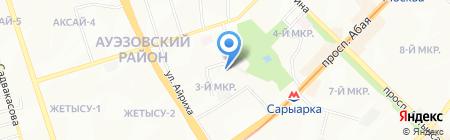 Ясли-сад №49 на карте Алматы