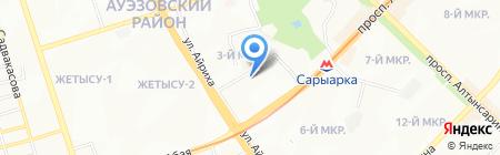Ясли-сад №33 на карте Алматы