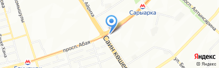 Ак-Алтын на карте Алматы