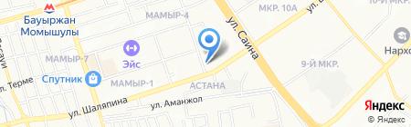 Мастерская по ремонту одежды на ул. Мамыр 3-й микрорайон на карте Алматы