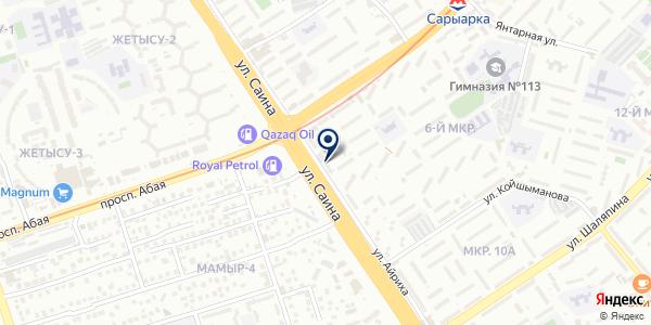 Interteach на карте Алматы