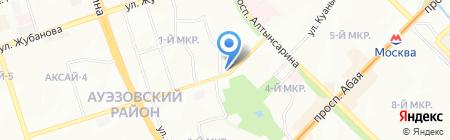 Баракат на карте Алматы