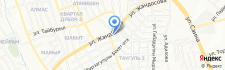 Ермек на карте Алматы