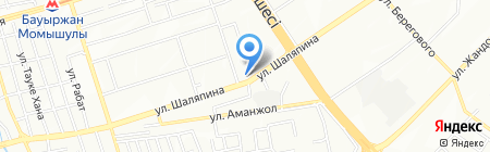 Ателье на ул. Мамыр 3-й микрорайон на карте Алматы