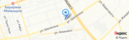 Булак на карте Алматы