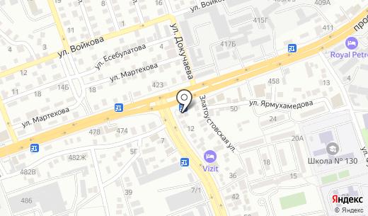 Суперлото. Схема проезда в Алматы