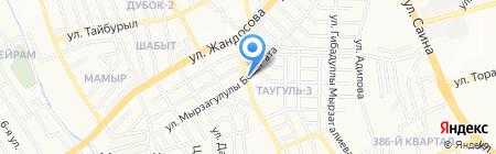 Балжан на карте Алматы