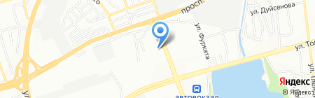 AR print на карте Алматы