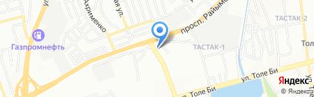 Каптагай на карте Алматы