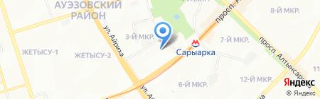 Жанна АБК на карте Алматы