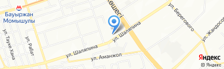 Айсана на карте Алматы