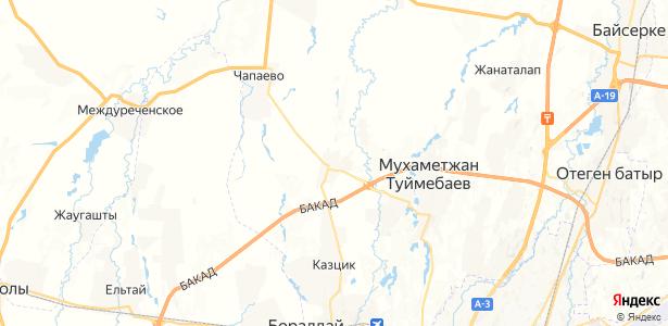 Комсомол на карте