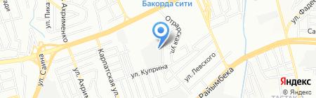 БиК на карте Алматы