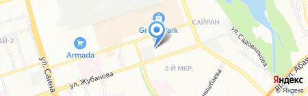 Эдукан на карте Алматы