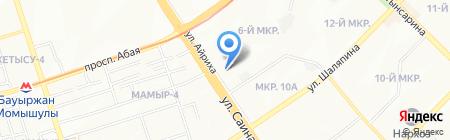 Алма продовольственный магазин на карте Алматы