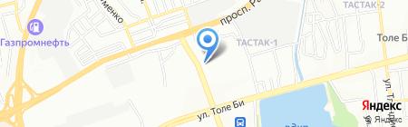 Тосол-Центр на карте Алматы