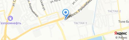 Абат на карте Алматы